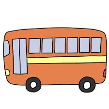 バスのイラストの簡単な書き方は 初心者でも描ける?   イラストの簡単な書き方あつめました